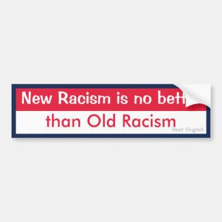 Nuevo viejo racismo del racismo v pegatina para auto
