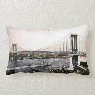 Nuevo vintage New York City del puente de Manhatta Cojín