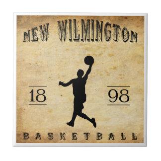 Nuevo Wilmington Pennsylvania baloncesto de 1898 Azulejo Cuadrado Pequeño