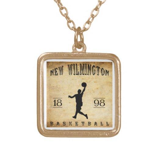Nuevo Wilmington Pennsylvania baloncesto de 1898 Pendiente