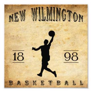 Nuevo Wilmington Pennsylvania baloncesto de 1898 Cojinete
