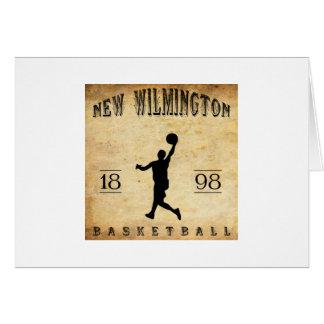 Nuevo Wilmington Pennsylvania baloncesto de 1898 Tarjeta Pequeña
