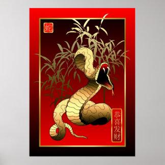 Nuevo Year-2013-year chino de la serpiente Póster