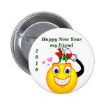 Nuevo Year_Button feliz Pins