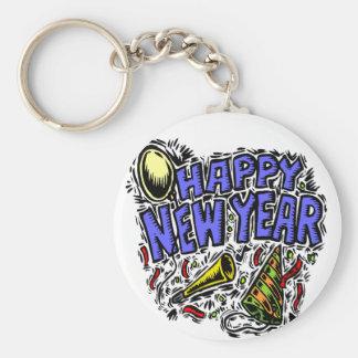 Nuevo Year' tiempo del fiesta de s Llavero Redondo Tipo Pin
