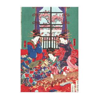 Nuevo Yoshiwara 1871 centro de Kinpeiro Impresion De Lienzo