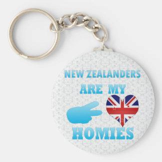 Nuevo Zealanders es mi Homies Llavero Redondo Tipo Pin