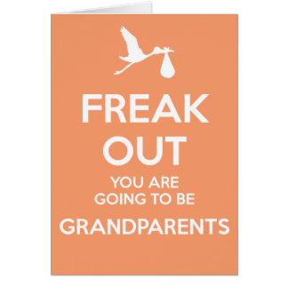 Nuevos abuelos a ser invitación del embarazo tarjeta de felicitación