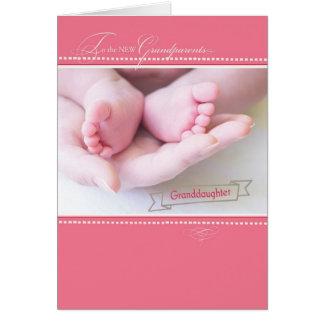 Nuevos abuelos, primera nieta tarjeta de felicitación