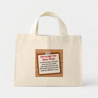Nuevos alquileres bolsa de tela pequeña