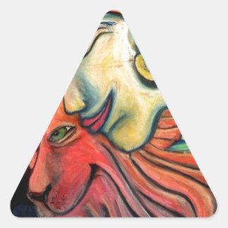 Nuevos artículos del diseño de la edad pegatina triangular