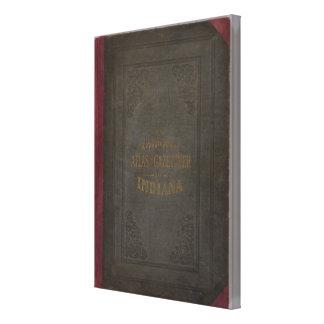 Nuevos atlas y diccionario geográfico topográficos impresión en lienzo estirada