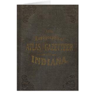 Nuevos atlas y diccionario geográfico topográficos tarjeta de felicitación