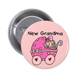 Nuevos camisetas y regalos de la abuela de la niña pin redondo de 2 pulgadas