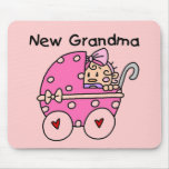 Nuevos camisetas y regalos de la abuela de la niña alfombrilla de ratón