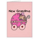 Nuevos camisetas y regalos de la abuela de la niña tarjeton