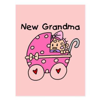 Nuevos camisetas y regalos de la abuela de la niña tarjeta postal