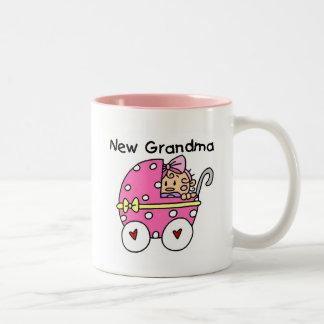 Nuevos camisetas y regalos de la abuela de la niña taza de dos tonos