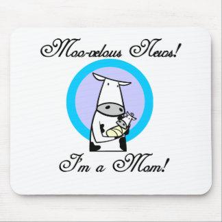 Nuevos camisetas y regalos de la mamá MOO-velous Tapete De Ratones