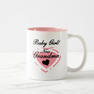 Nuevos camisetas y regalos de la niña de la abuela taza dos tonos