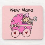 Nuevos camisetas y regalos de Nana de la niña Tapetes De Ratón