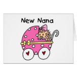 Nuevos camisetas y regalos de Nana de la niña Tarjeton
