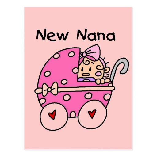 Nuevos camisetas y regalos de Nana de la niña Postal