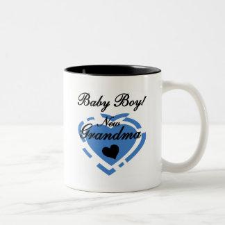 Nuevos camisetas y regalos del bebé de la abuela taza dos tonos