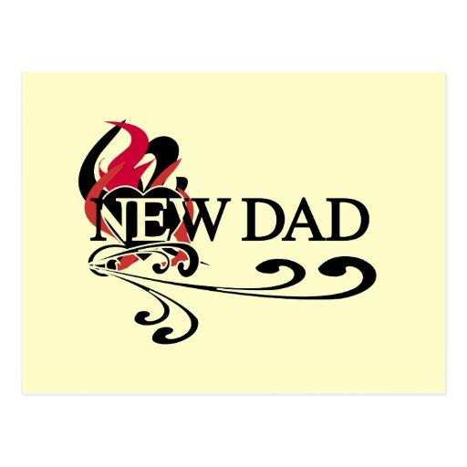 Nuevos camisetas y regalos del papá del corazón tarjeta postal