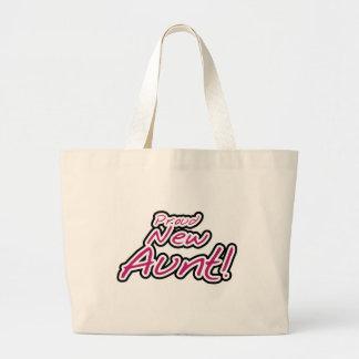 Nuevos camisetas y regalos orgullosos de la tía bolsa tela grande