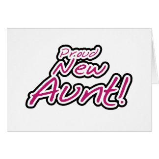 Nuevos camisetas y regalos orgullosos de la tía tarjeta de felicitación