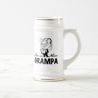 Nuevos camisetas y regalos sonrientes de Grampa Jarra De Cerveza