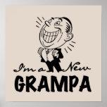 Nuevos camisetas y regalos sonrientes de Grampa Poster