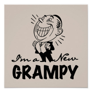 Nuevos camisetas y regalos sonrientes de Grampy Póster