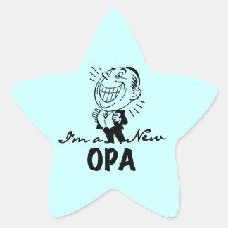 Nuevos camisetas y regalos sonrientes de Opa Pegatina En Forma De Estrella