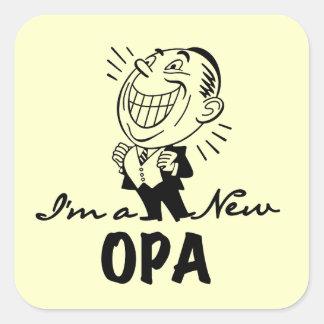 Nuevos camisetas y regalos sonrientes de Opa Pegatina Cuadrada
