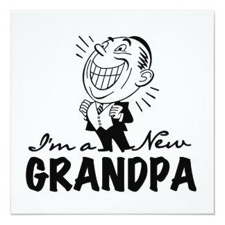 Nuevos camisetas y regalos sonrientes del abuelo invitacion personalizada