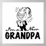 Nuevos camisetas y regalos sonrientes del abuelo poster