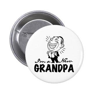 Nuevos camisetas y regalos sonrientes del abuelo pin redondo 5 cm
