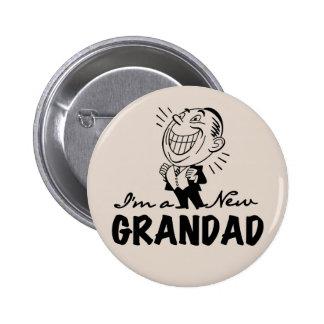 Nuevos camisetas y regalos sonrientes del Grandad Pin Redondo 5 Cm