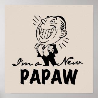 Nuevos camisetas y regalos sonrientes del Papaw Póster