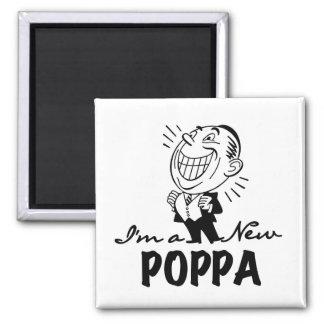 Nuevos camisetas y regalos sonrientes del Poppa Imán Cuadrado