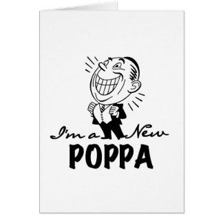 Nuevos camisetas y regalos sonrientes del Poppa Tarjeta De Felicitación