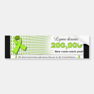 ¡Nuevos casos de la enfermedad de Lyme 200 000 cad Etiqueta De Parachoque