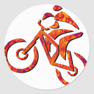 Nuevos ciclos de la bici etiqueta redonda