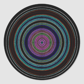 nuevos círculos pegatina redonda