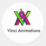 Nuevos colores del VA, animaciones de Vinci Pegatina Redonda