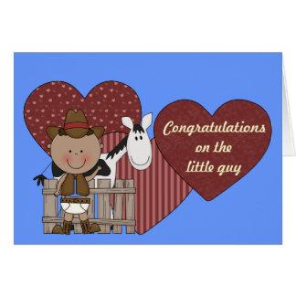 Nuevos corazones del bebé y del potro - occidental felicitacion