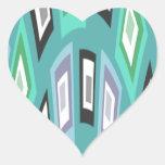 Nuevos cuadrados pegatinas corazon