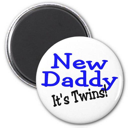 Nuevos gemelos del papá iman de nevera